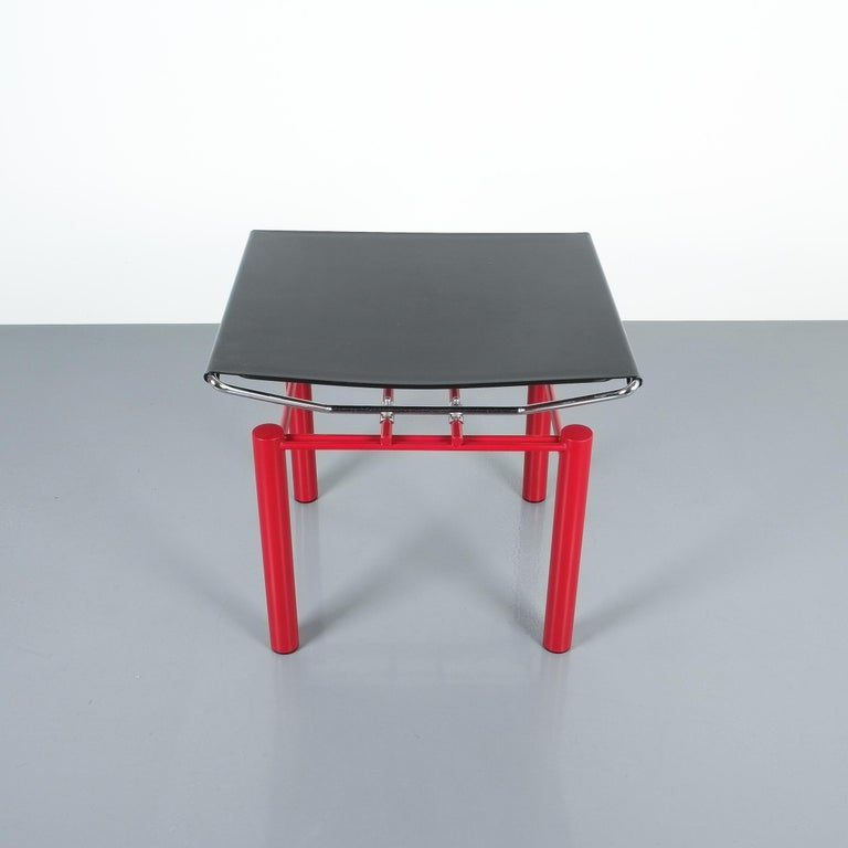 Enameled Hans Ullrich Bitsch Side Table Series 8600, circa 1980 For Sale
