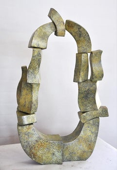 """Pear Portal"" Abstract, Bronze Metal Sculpture, Large-Scale, Outdoors"