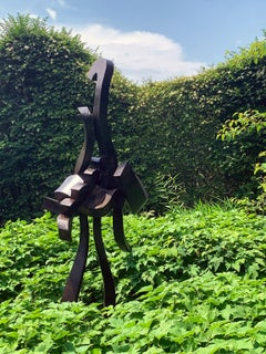"""""""She-Clamdigger"""" Abstract, Bronze Metal Sculpture, Large-Scale, Outdoors"""