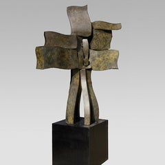 """""""Tree House"""" Abstract, Bronze Metal Sculpture, Large-Scale, Outdoors"""