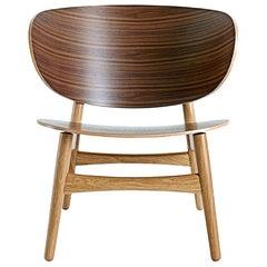 Hans Wegner 1936 Lounge Chair, Lacquered Walnut