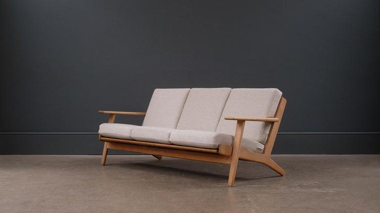 Danish Hans Wegner 3-Seat Oak Sofa For Sale
