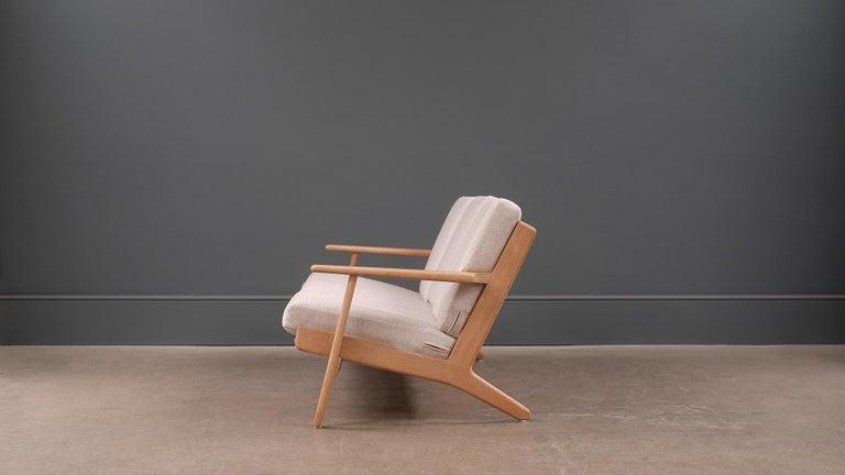 20th Century Hans Wegner 3-Seat Oak Sofa For Sale