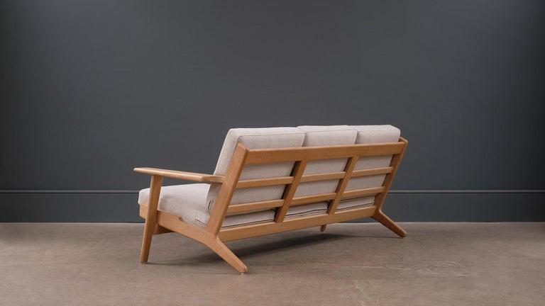 Hans Wegner 3-Seat Oak Sofa For Sale 1