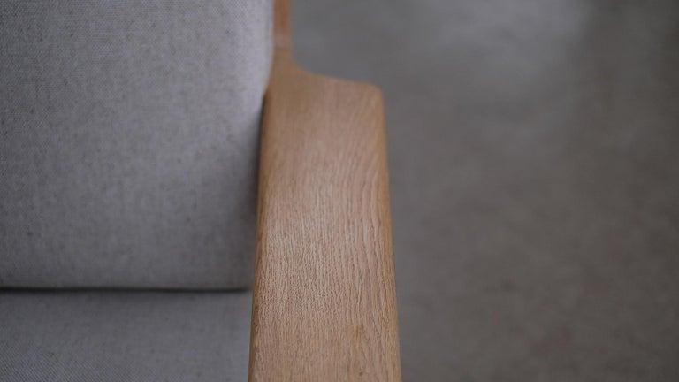 Hans Wegner 3-Seat Oak Sofa For Sale 2