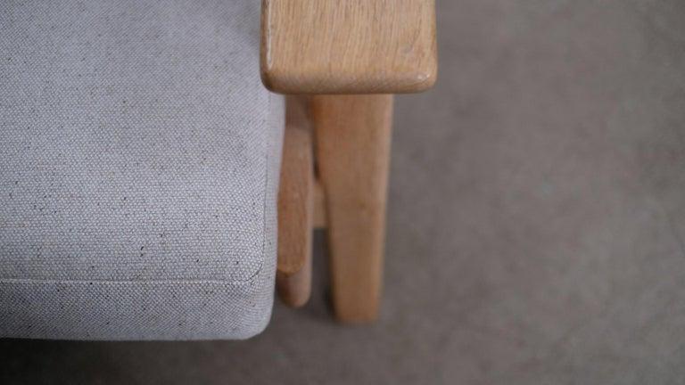 Hans Wegner 3-Seat Oak Sofa For Sale 3