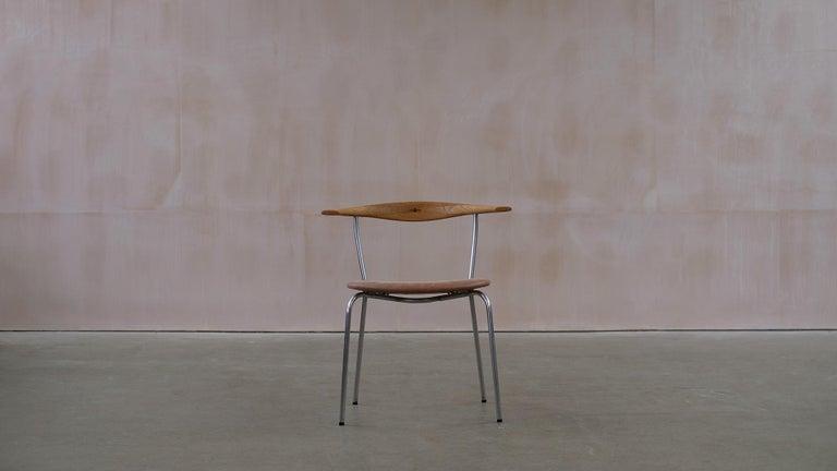 20th Century Hans Wegner 6 Little Steel Chairs For Sale