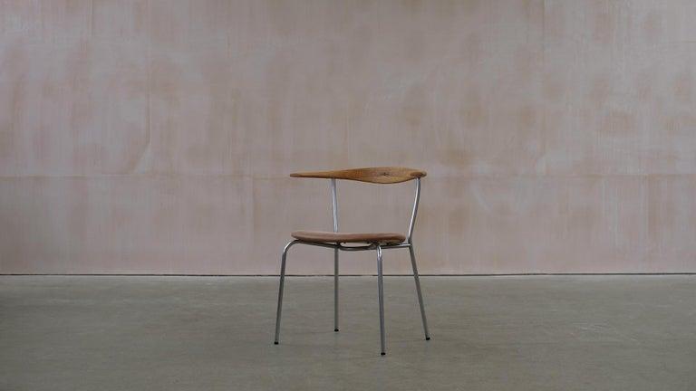 Hans Wegner 6 Little Steel Chairs For Sale 1