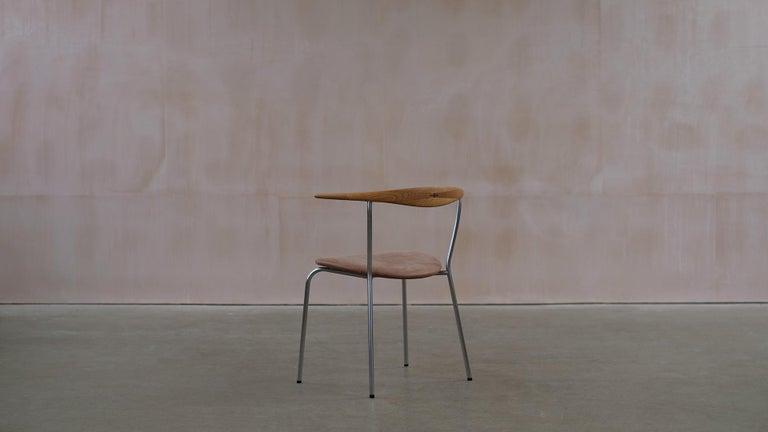 Hans Wegner 6 Little Steel Chairs For Sale 2