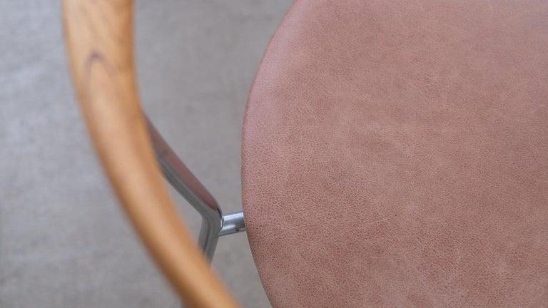 Hans Wegner 6 Little Steel Chairs For Sale 3