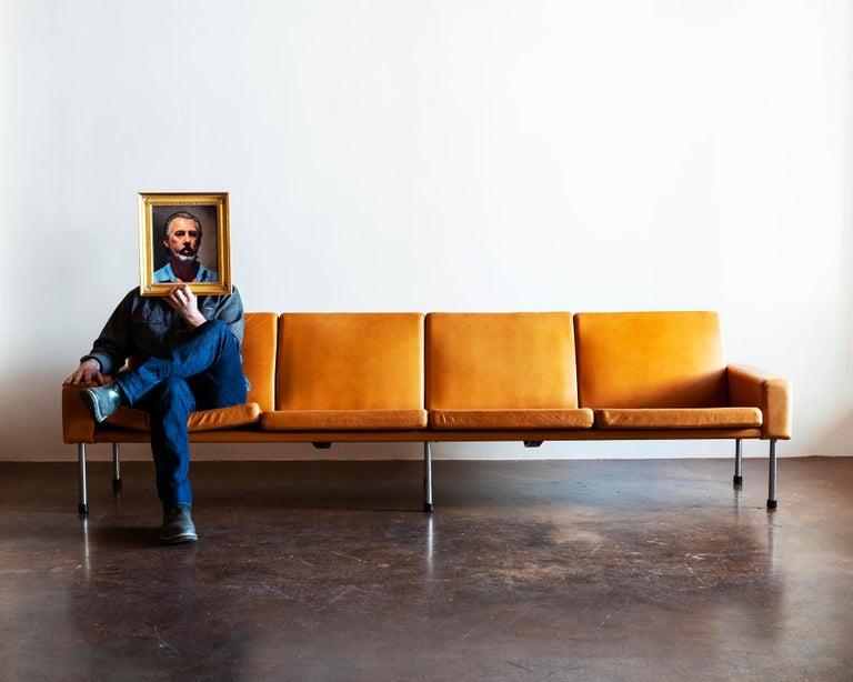 Hans Wegner Airport Sofa, Model AP 34/4, Denmark, 1960s For Sale 7