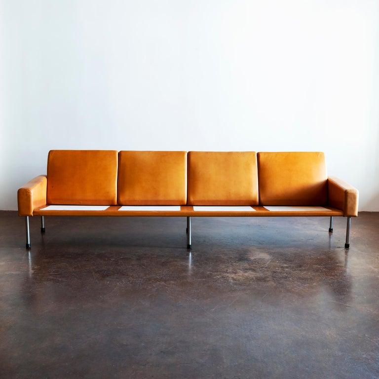 Danish Hans Wegner Airport Sofa, Model AP 34/4, Denmark, 1960s For Sale