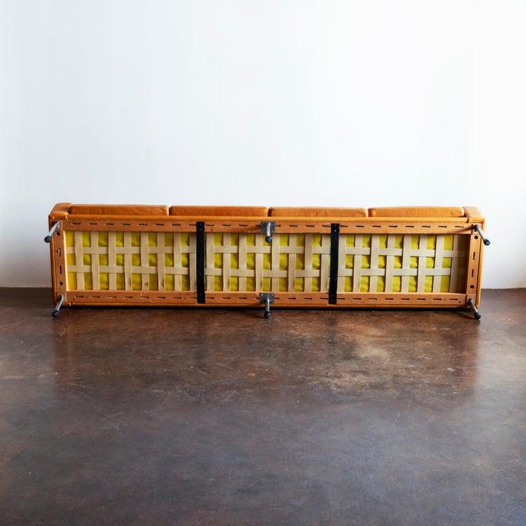 Hans Wegner Airport Sofa, Model AP 34/4, Denmark, 1960s In Good Condition For Sale In Santa Fe, NM