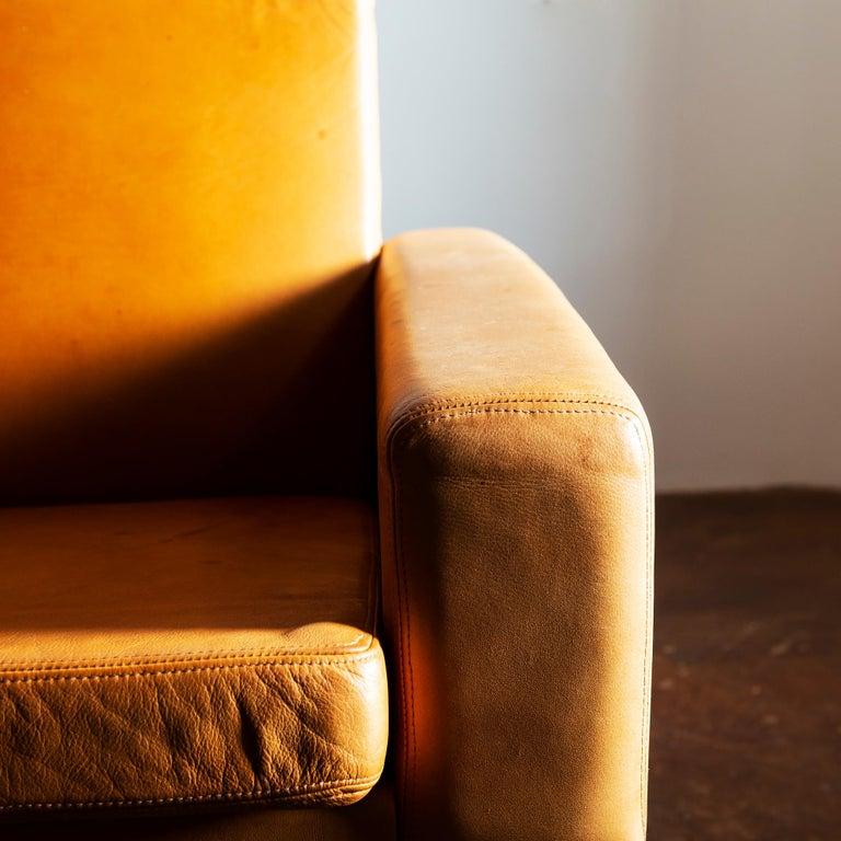 Leather Hans Wegner Airport Sofa, Model AP 34/4, Denmark, 1960s For Sale