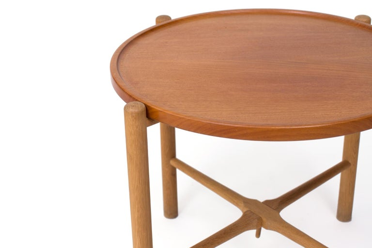Mid-Century Modern Hans Wegner Andreas Tuck Side Table For Sale