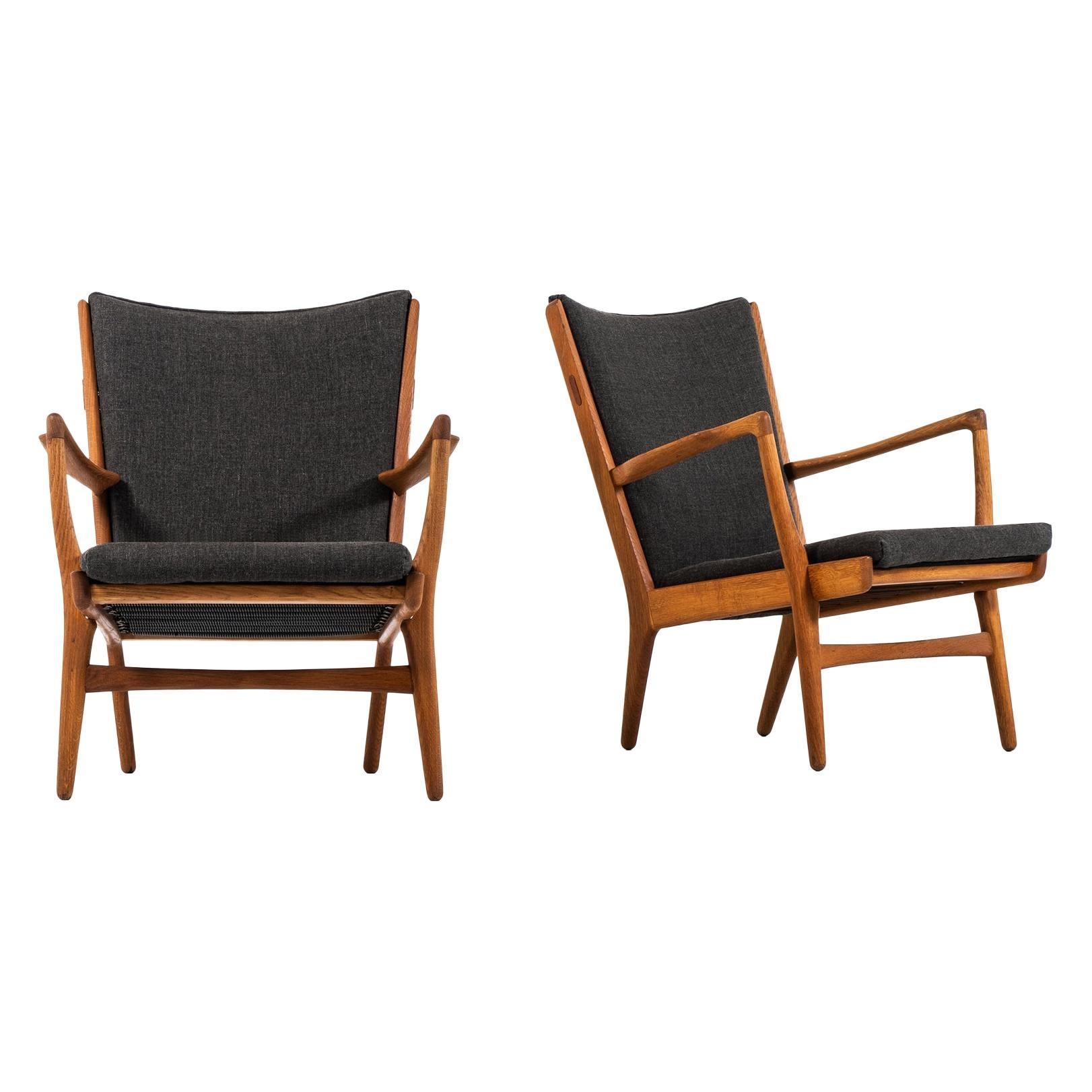 Hans Wegner AP-16 Easy Chairs Produced by AP-Stolen in Denmark