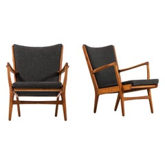 Hans Wegner AP-16 Easy Chairs Produced by AP-Stolen in Denmark