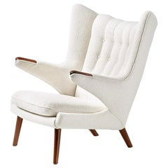 Hans Wegner AP-19 Papa Bear Chair in Boucle Fabric