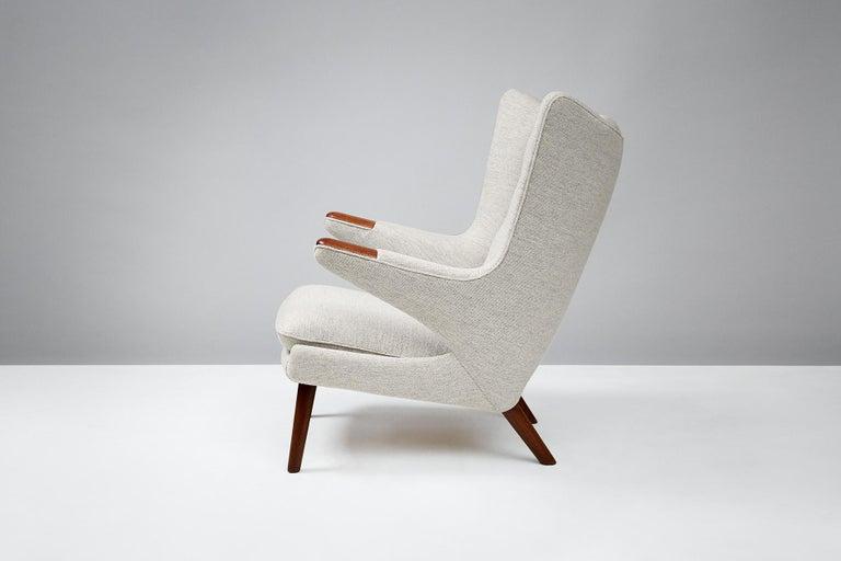 Scandinavian Modern Hans Wegner AP-19 Papa Bear Chair, Teak For Sale
