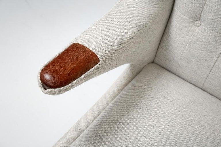 Fabric Hans Wegner AP-19 Papa Bear Chair, Teak For Sale
