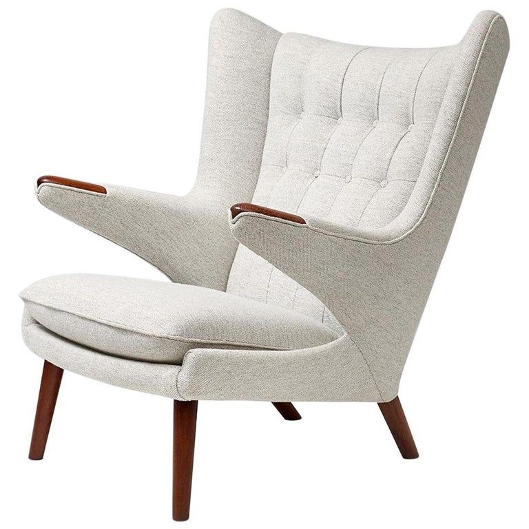 Hans Wegner AP-19 Papa Bear Chair, Teak For Sale