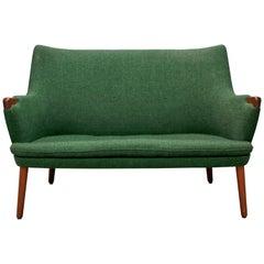 Hans Wegner AP 20 Sofa, Original Fabric, Denmark, 1950s-1960s