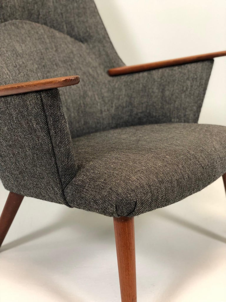 Fabric Hans Wegner AP-27 Armchair by A.P. Stolen For Sale