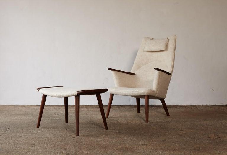 Hans Wegner AP-27 Chair and Ottoman, AP Stolen, Denmark, 1950s 9