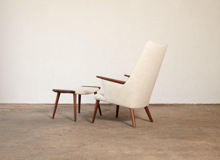 Danish Hans Wegner AP-27 Chair and Ottoman, AP Stolen, Denmark, 1950s