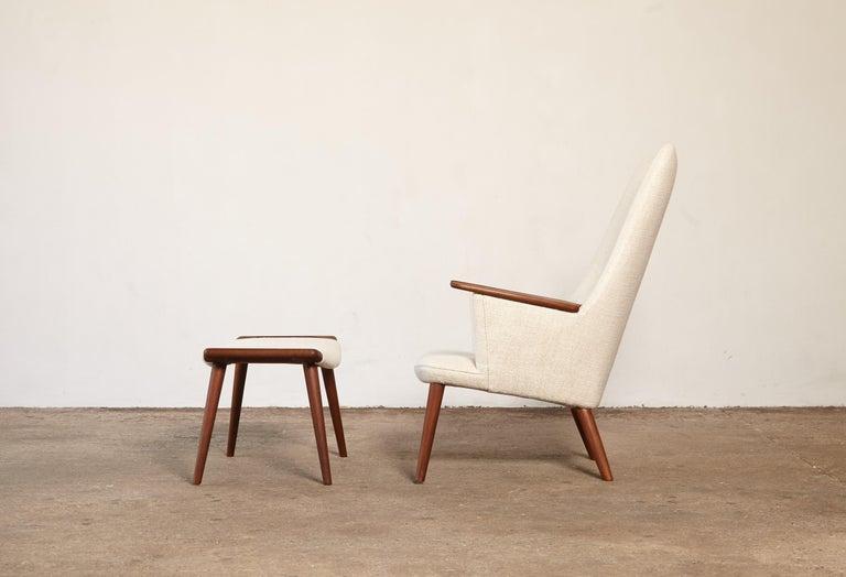 Hans Wegner AP-27 Chair and Ottoman, AP Stolen, Denmark, 1950s In Good Condition In London, GB