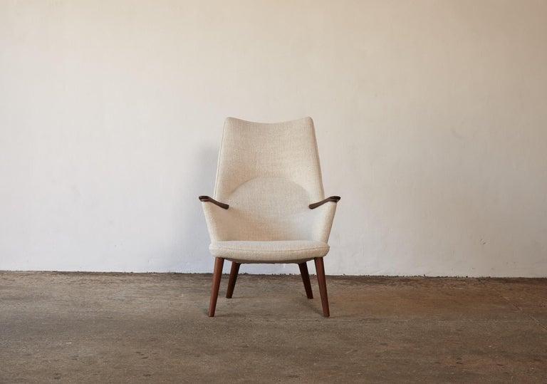 20th Century Hans Wegner AP-27 Chair and Ottoman, AP Stolen, Denmark, 1950s