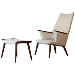 Hans Wegner AP-27 Chair and Ottoman, AP Stolen, Denmark, 1950s