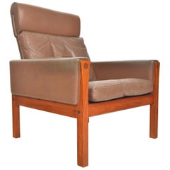 Hans Wegner AP 62 Highback Lounge Chair in Teak, Produced by AP Stolen