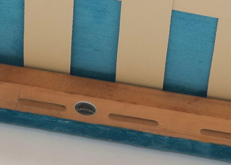 Hans Wegner Arm Chair by AP Stolen Denmark in Electric Blue Velvet For Sale 6