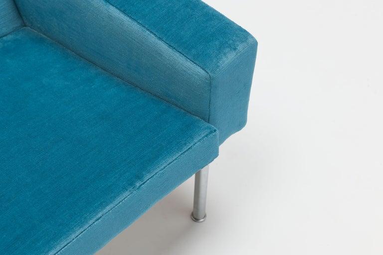 Hans Wegner Arm Chair by AP Stolen Denmark in Electric Blue Velvet For Sale 3