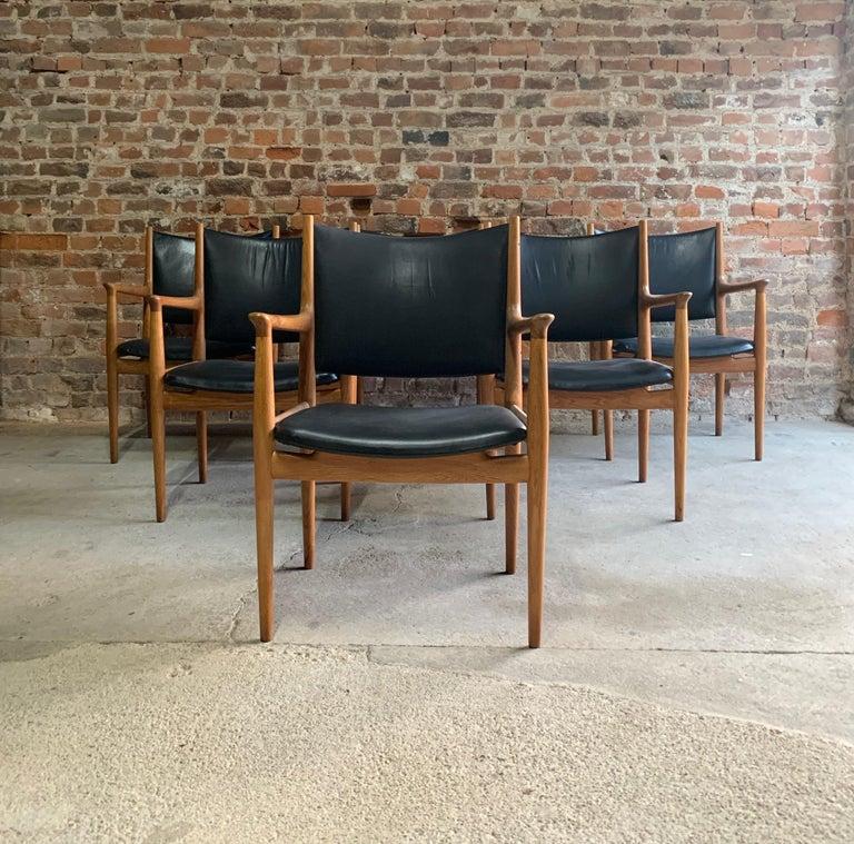 Hans Wegner Armchair JH713 Conference Lounge Chair Johannes Hansen Denmark, 1957 For Sale 3