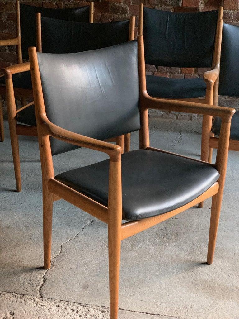 Hans Wegner Armchair JH713 Conference Lounge Chair Johannes Hansen Denmark, 1957 For Sale 5