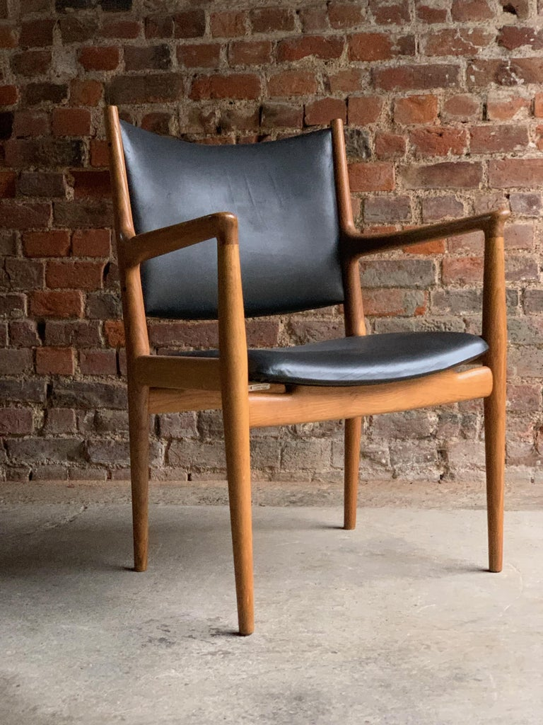 Mid-Century Modern Hans Wegner Armchair JH713 Conference Lounge Chair Johannes Hansen Denmark, 1957 For Sale