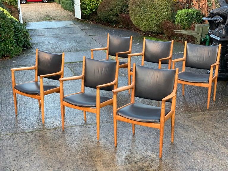 Hans Wegner Armchair JH713 Conference Lounge Chair Johannes Hansen Denmark, 1957 For Sale 1