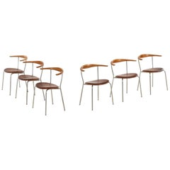 Hans Wegner Armchairs Model JH-701 Produced by Johannes Hansen in Denmark