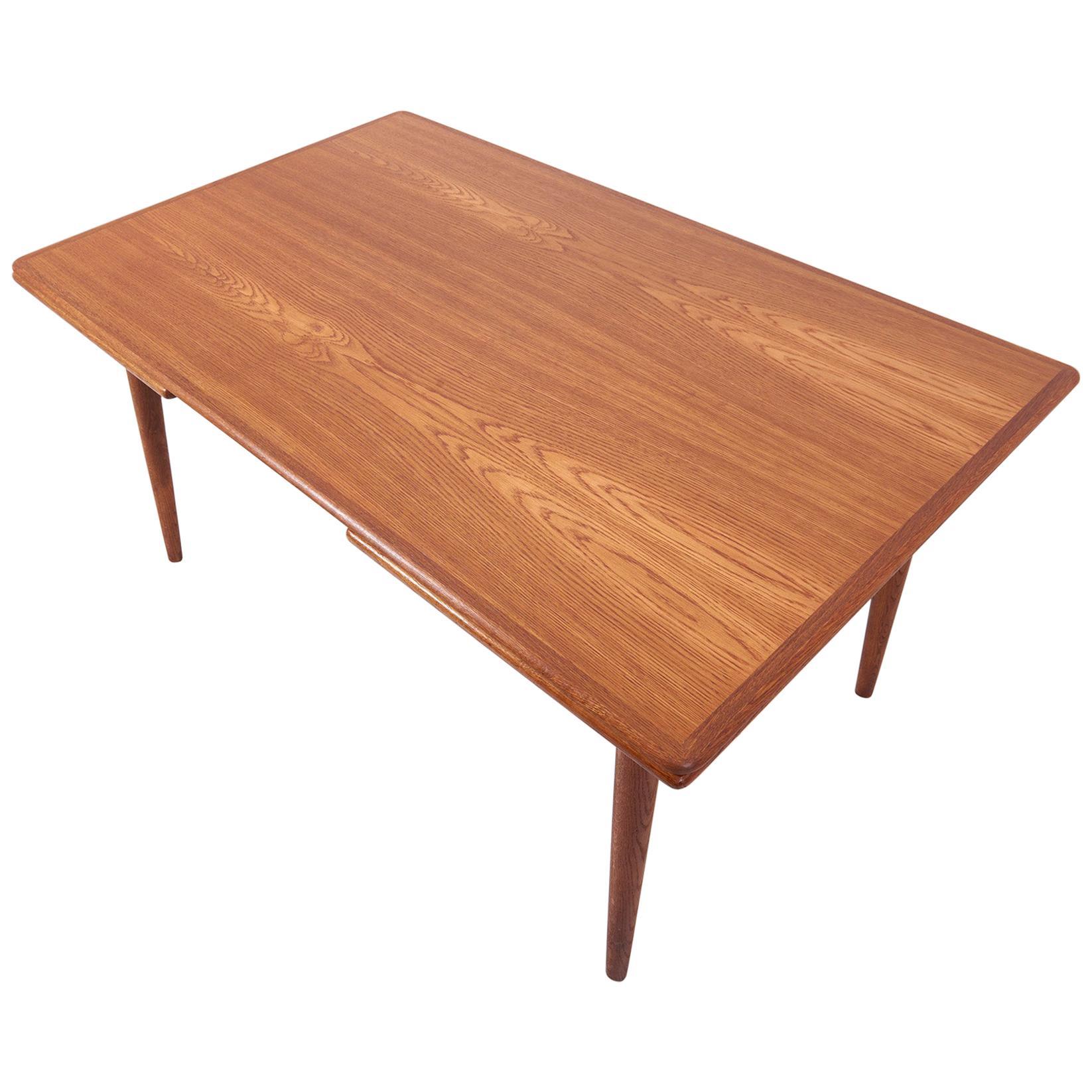 Hans Wegner AT-312 Dining Table in Oak for Andreas Tuck, Denmark, 1950s