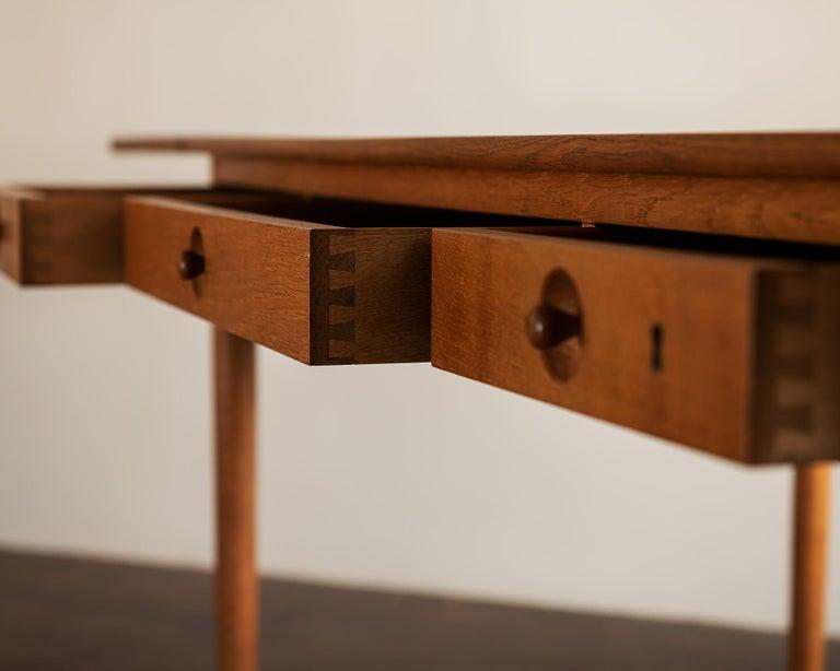 Hans Wegner AT305 Desk for Andreas Tuck, Denmark, 1950s For Sale 10