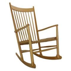 Hans Wegner Beechwood Rocking Chair, J16, Denmark