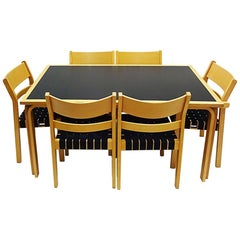Hans Wegner Bentwood Koldinghus Chair Dining Set with a Table and 6 Chairs