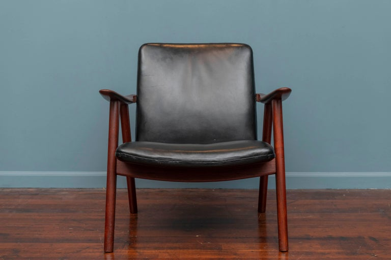 Scandinavian Modern Hans Wegner Buck Lounge Chair for Johannes Hansen For Sale