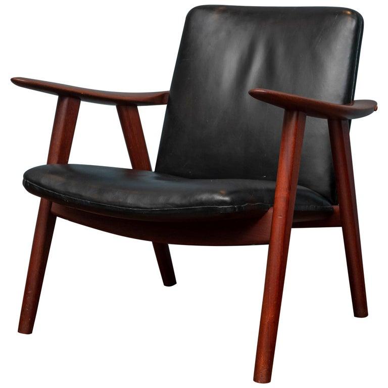 Hans Wegner Buck Lounge Chair for Johannes Hansen For Sale