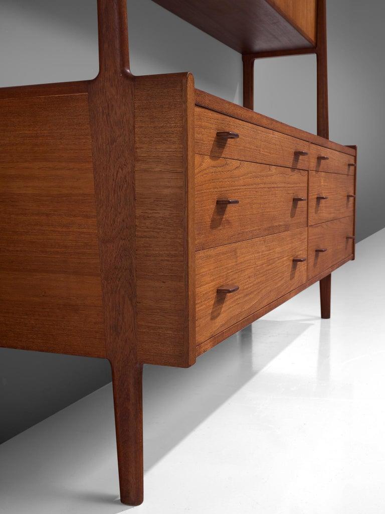 Hans Wegner Cabinet in Teak, circa 1955 For Sale 1