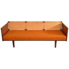 Hans Wegner Cane-Backed Teak Sofa/Daybed for GETAMA