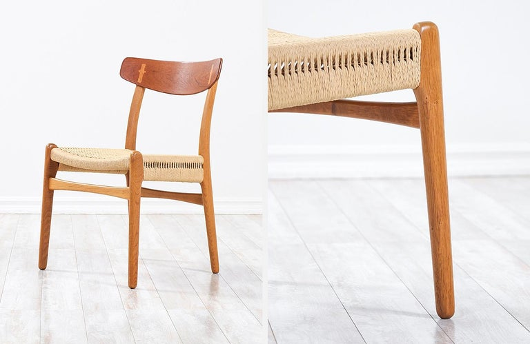 Hans Wegner CH-23 Dining Chairs for Carl Hansen & Søn For Sale 3