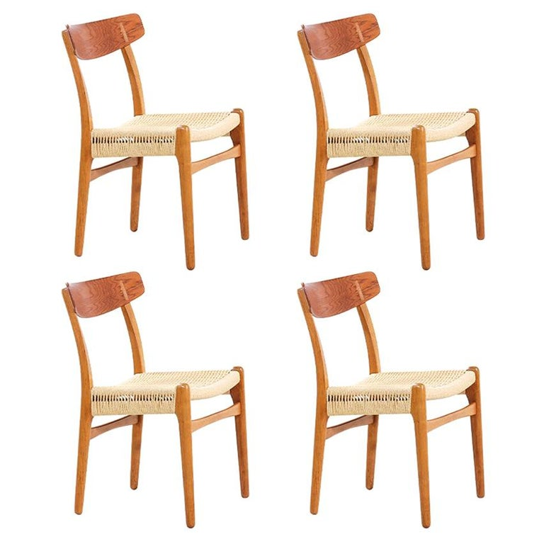 Hans Wegner CH-23 Dining Chairs for Carl Hansen & Søn For Sale